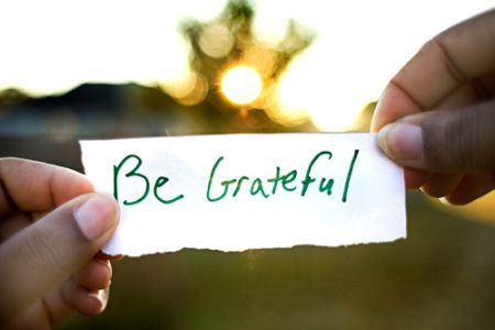 Being grateful can change your lfie!