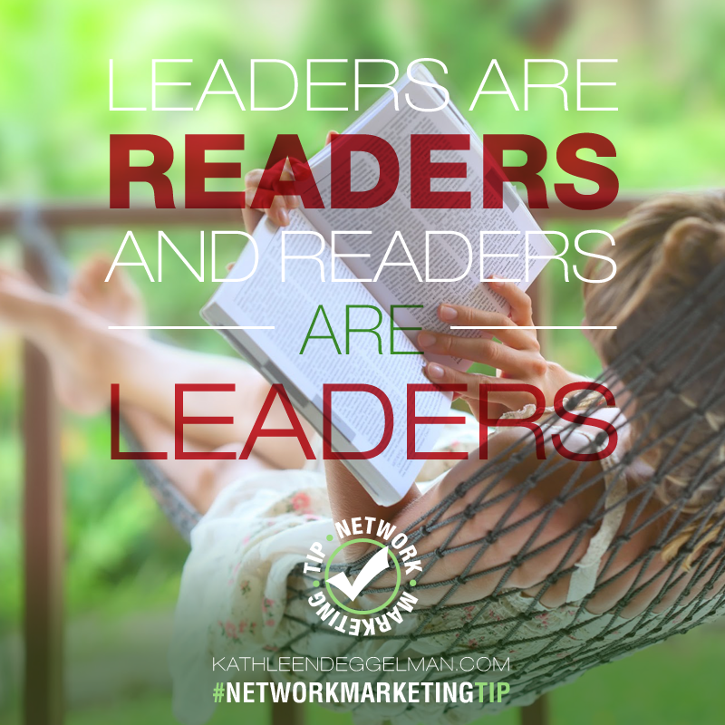 Network Marketing leaders are readers!